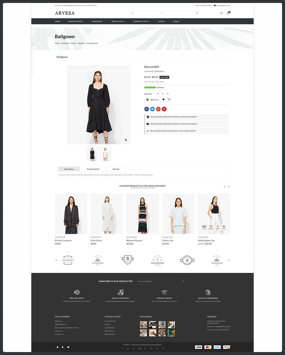 Fashi Arvesa - Fashion Store PrestaShop Theme