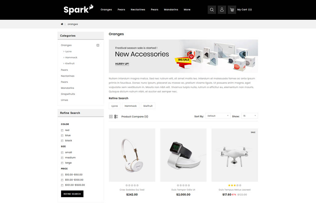 Spark - Electronic Store OpenCart Template