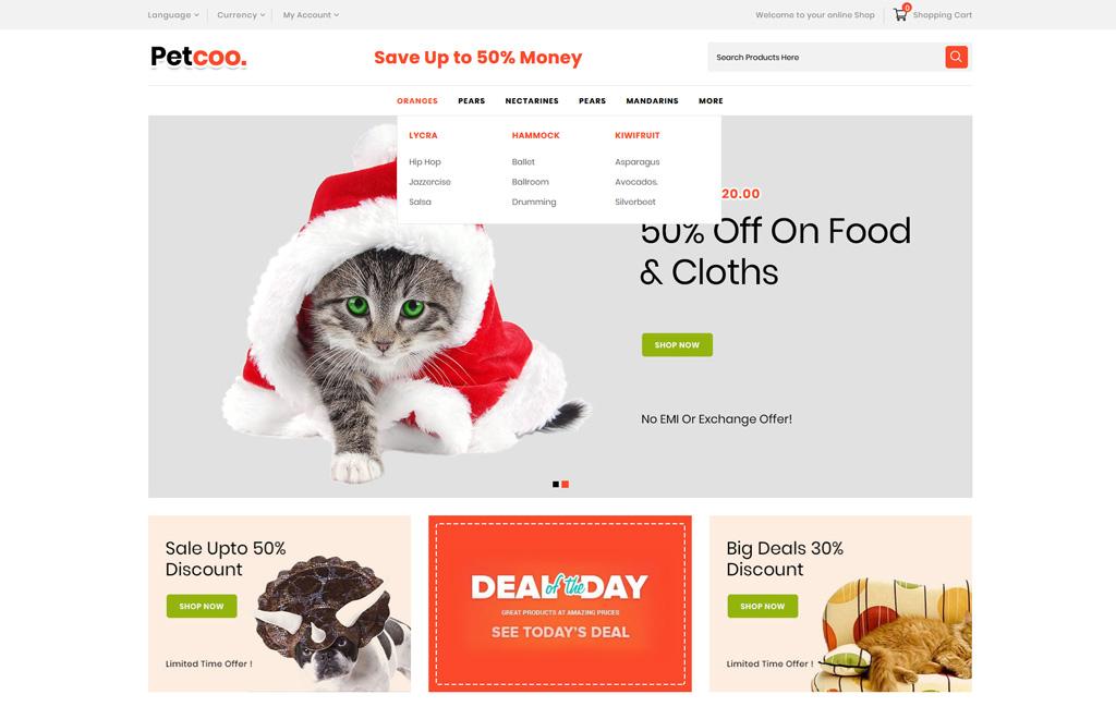 Petcoo -Pet Store OpenCart Template