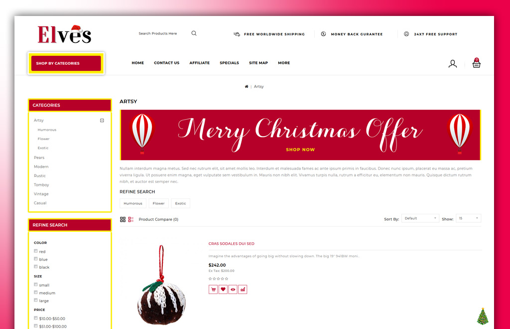 Elves - Christmas Store OpenCart Template