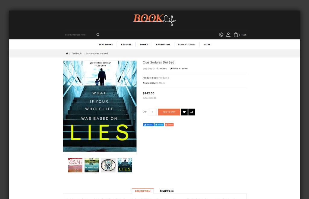 Booklife - Book Store OpenCart Template