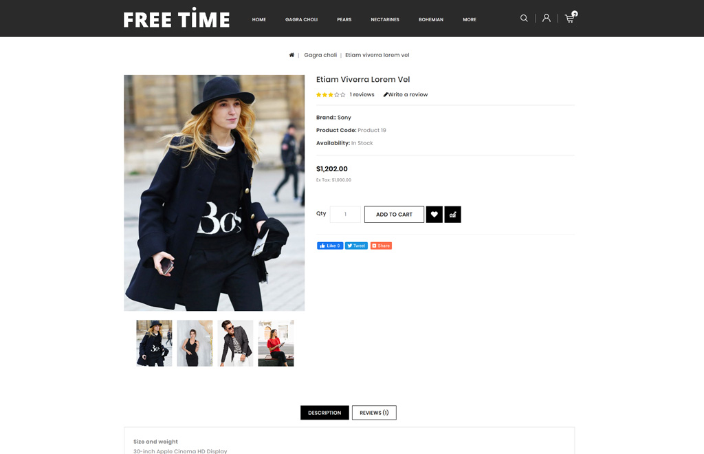 Freetime - Fashion Store OpenCart Template