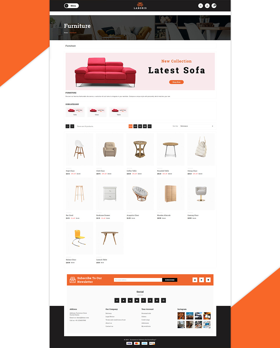 Laboris - Modern Furniture Store PrestaShop Theme