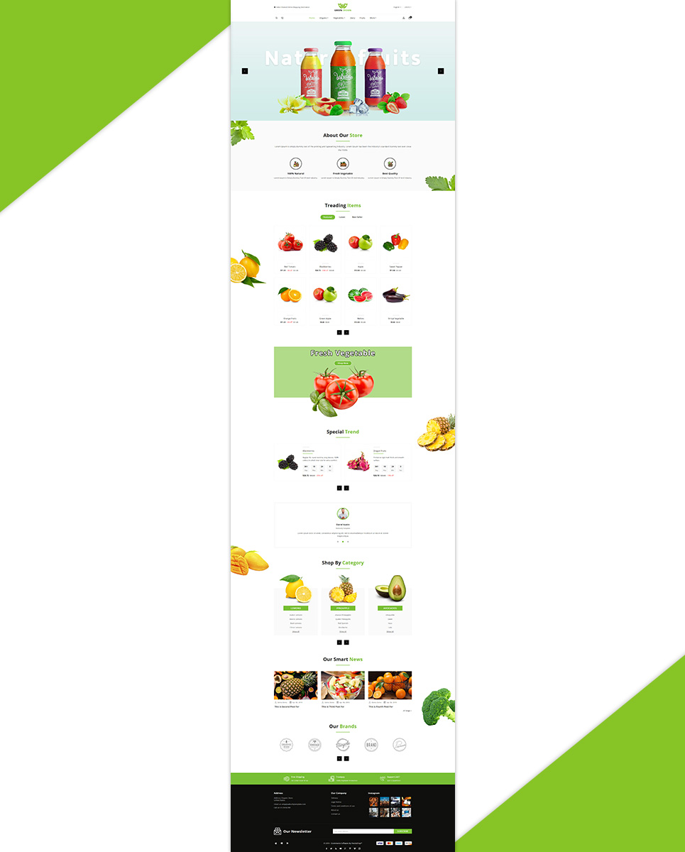 Green Crown Organic - Grocery PrestaShop Theme
