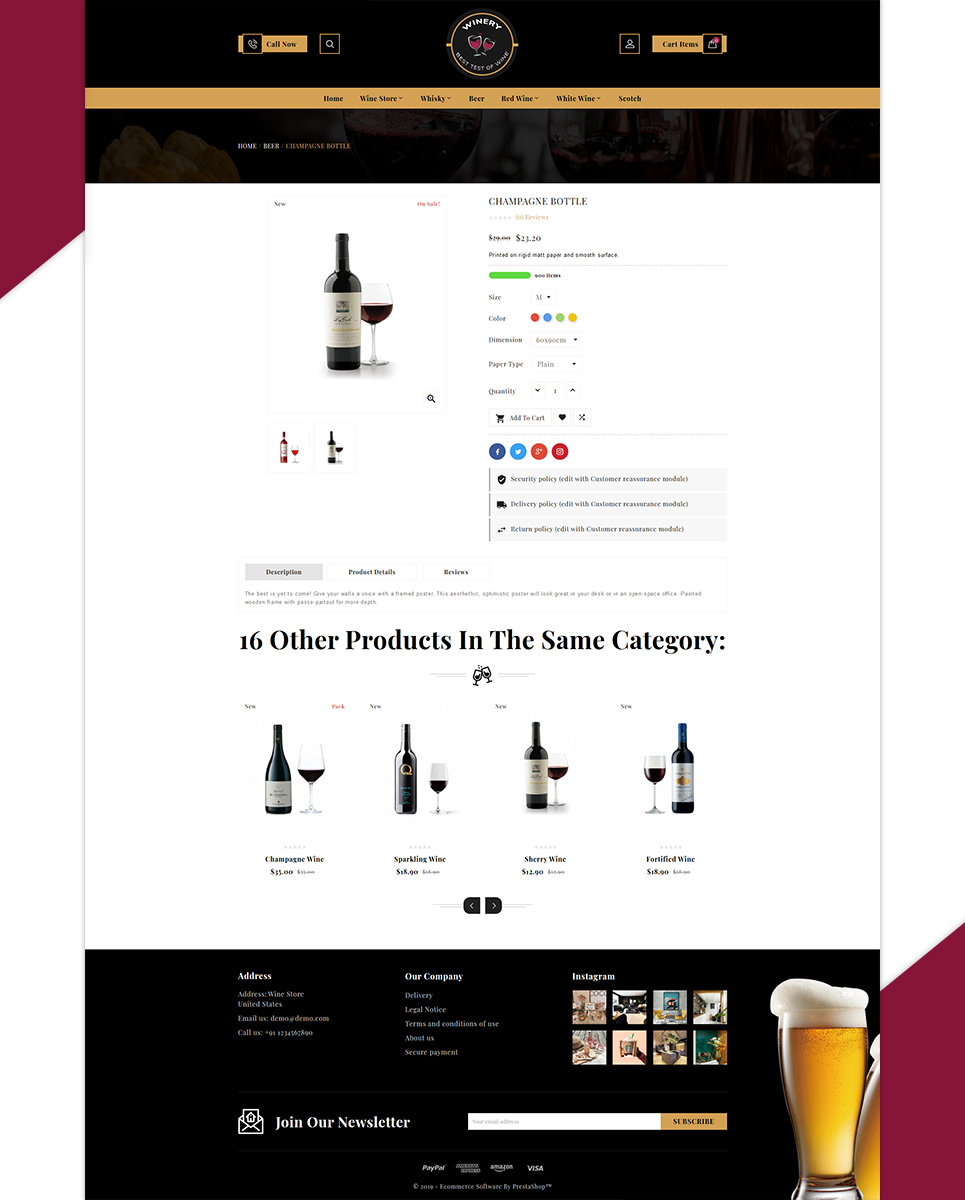 Winery - France Winery Wine PrestaShop Theme