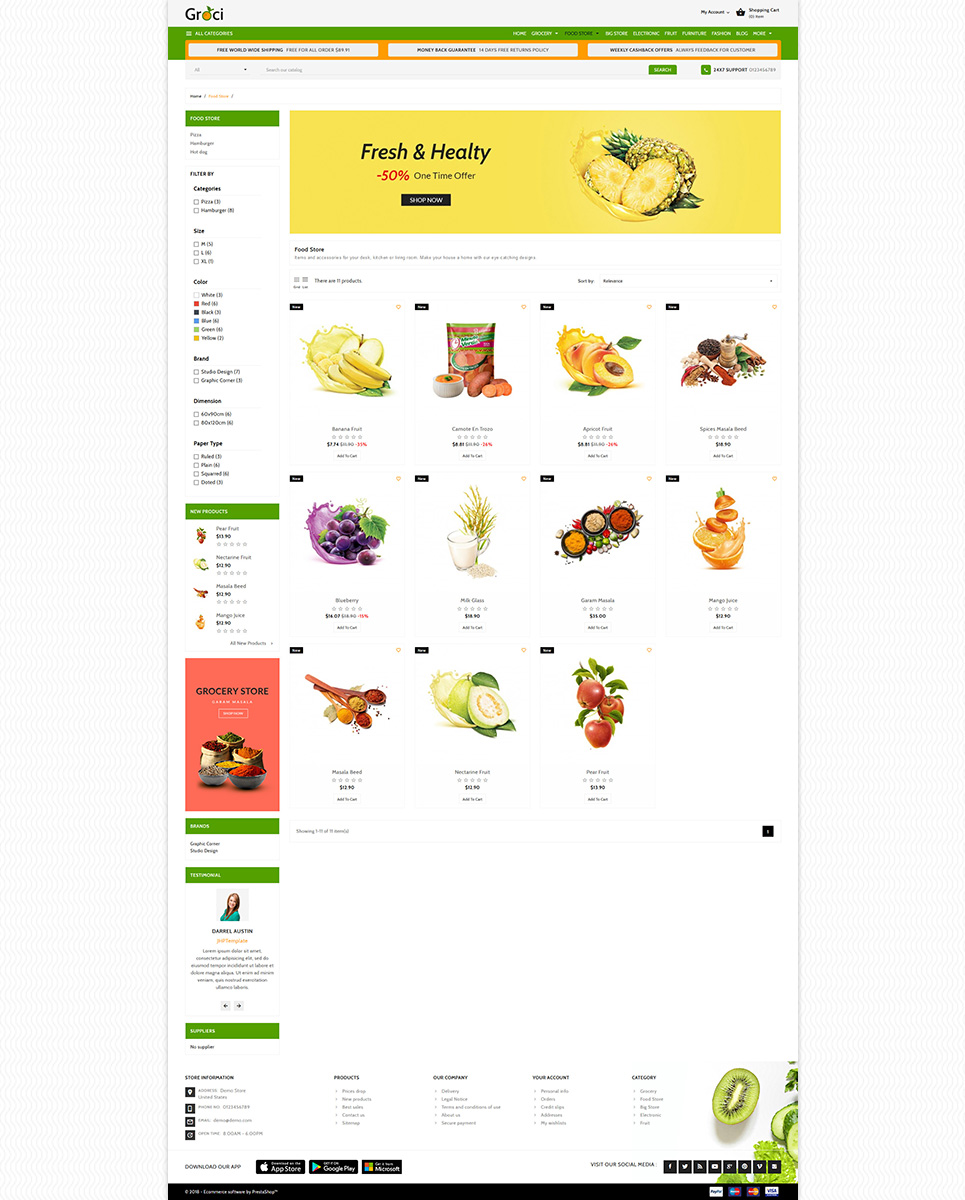 Groce - The Grocery Food Store PrestaShop Theme