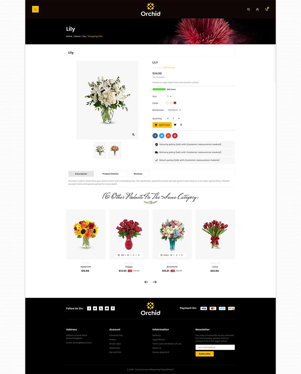 Orchid Flower PrestaShop Theme