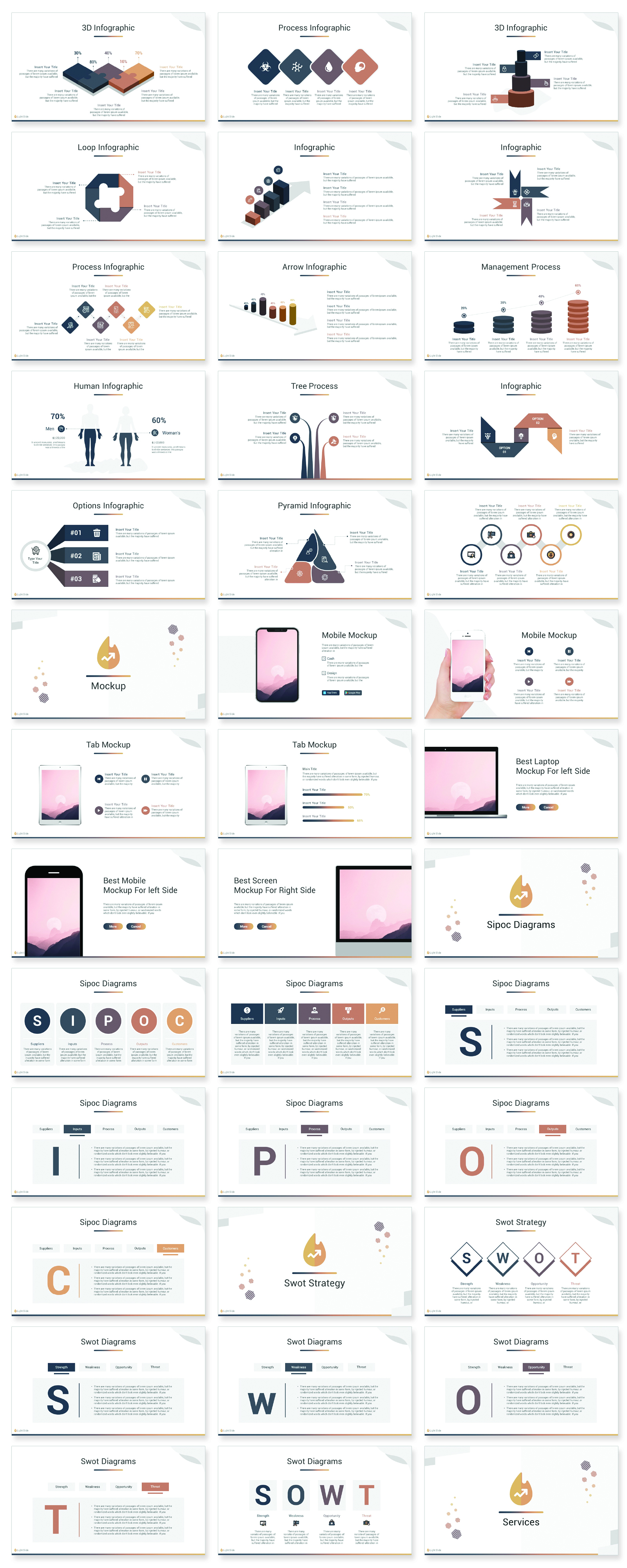 Light Slides PowerPoint Template