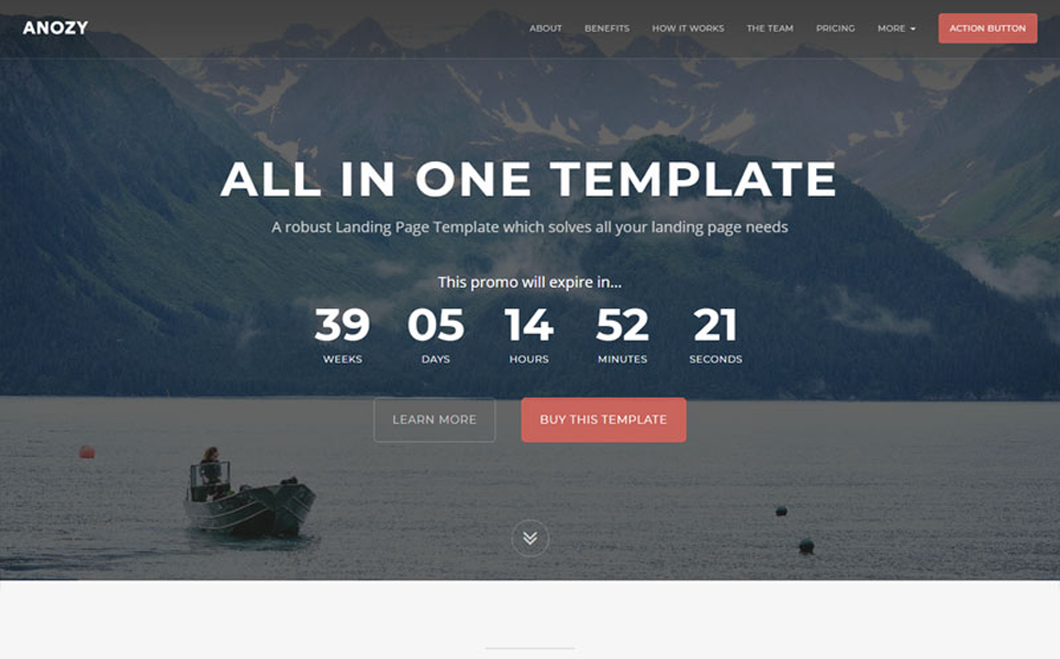 Anozy - one Multipurpose Landing Page Template