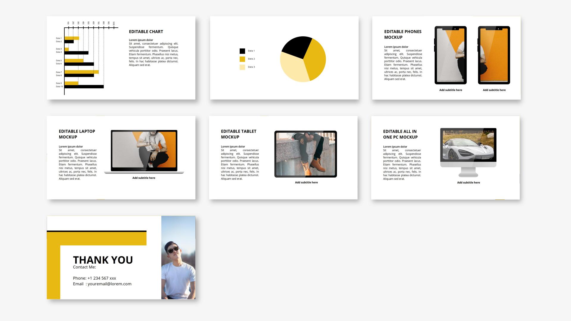 Freeman - Street Fashion PowerPoint Template