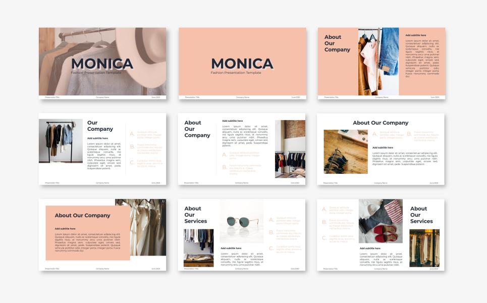 Monica - Fashion PowerPoint Template
