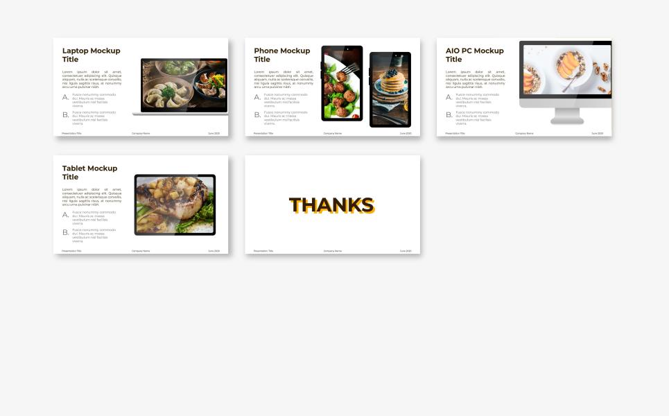 Food Presentation - Makana PowerPoint Template