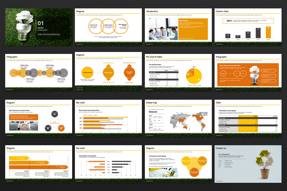 Green Power PowerPoint Template