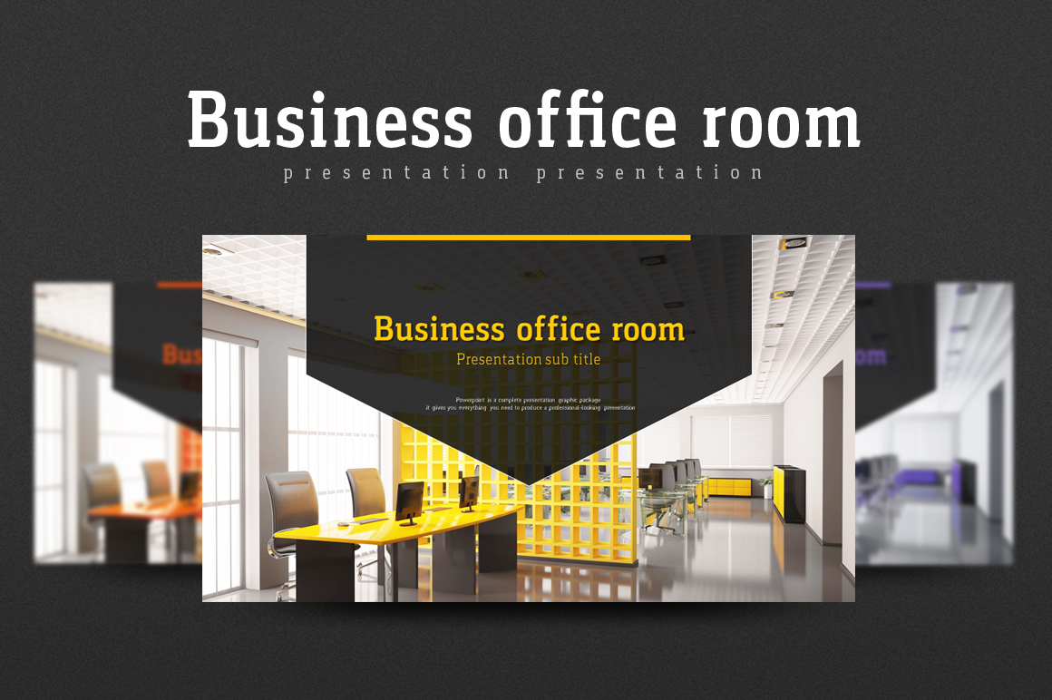 Business Office Room PowerPoint Template