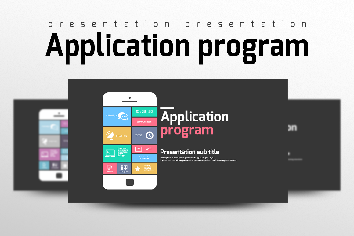 Application Program PowerPoint Template