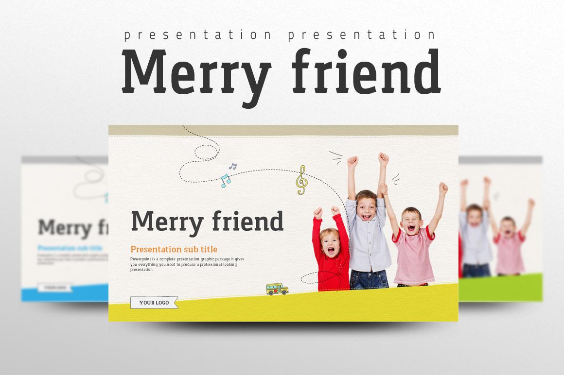 Merry Friend PowerPoint Template