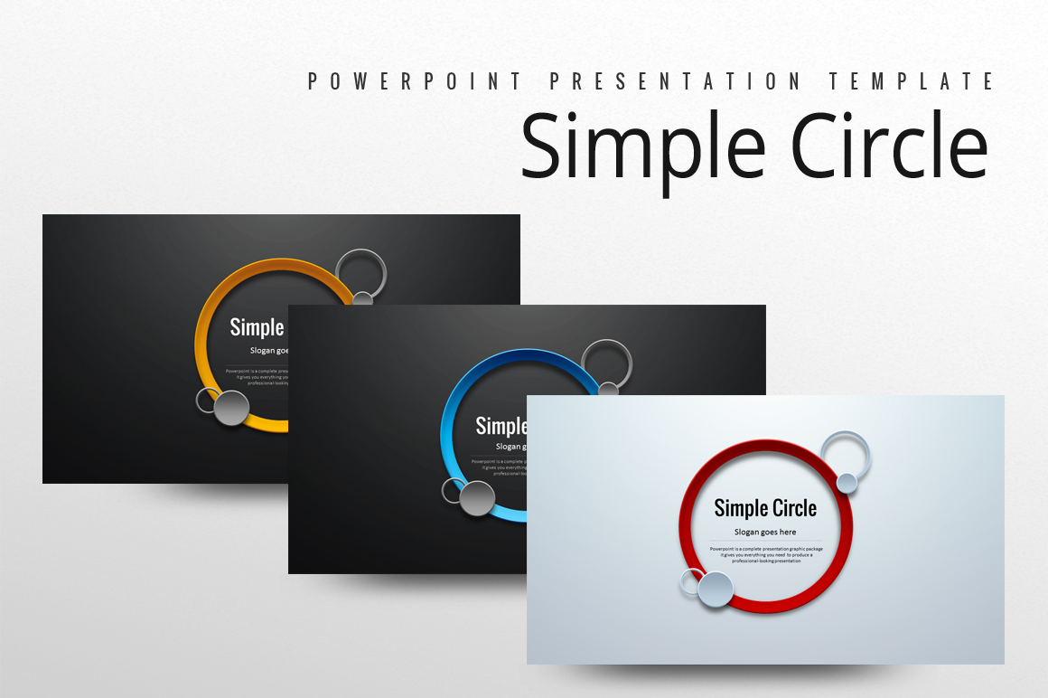 Simple Circle PowerPoint Template