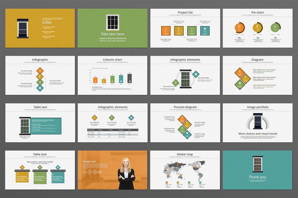 Square Frame PowerPoint Template