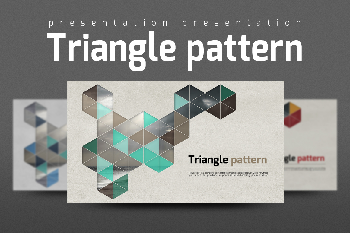 Triangle Pattern PowerPoint Template