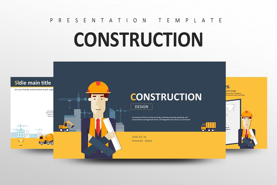 CONSTRUCTION PowerPoint Template