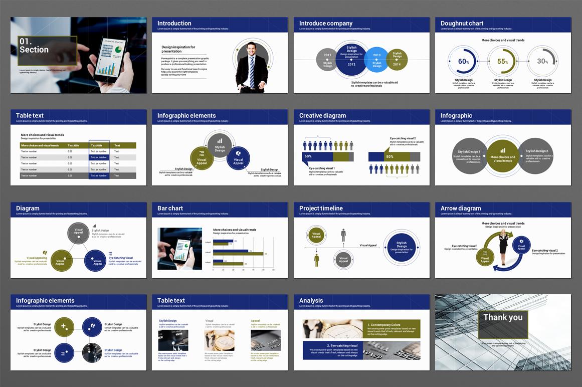 Financial Design PowerPoint Template
