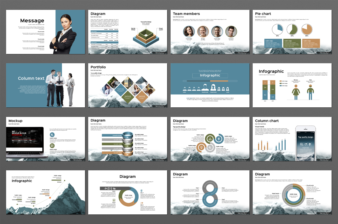 Big Mountain PowerPoint Template