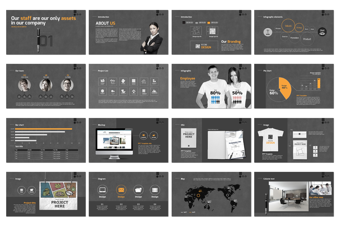 Business Branding Concept PowerPoint Template