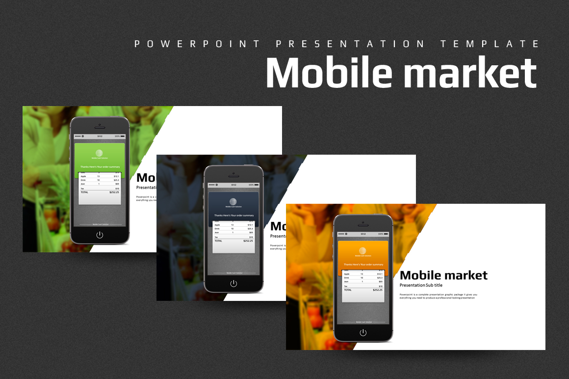 Mobile Market PowerPoint Template