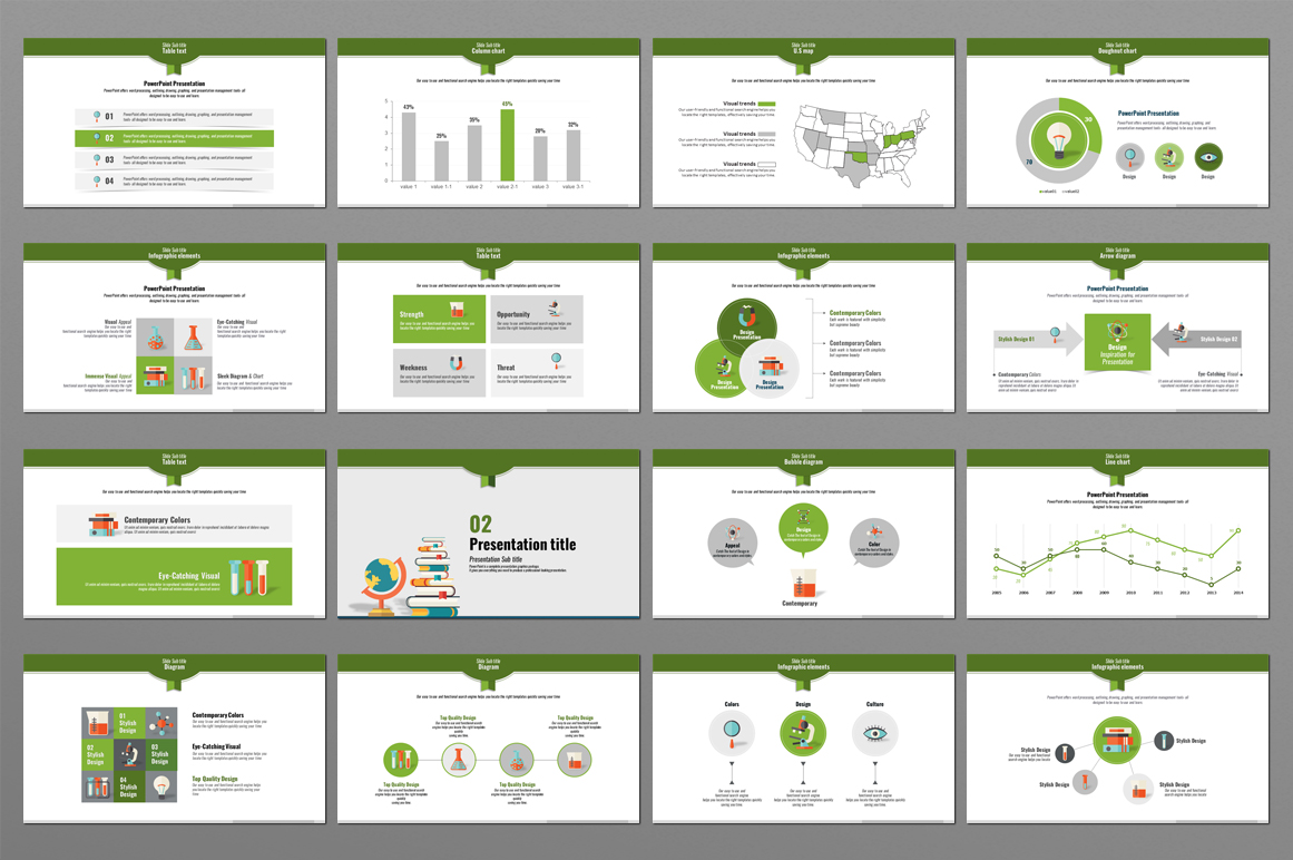 Science Education Presentation PowerPoint Template