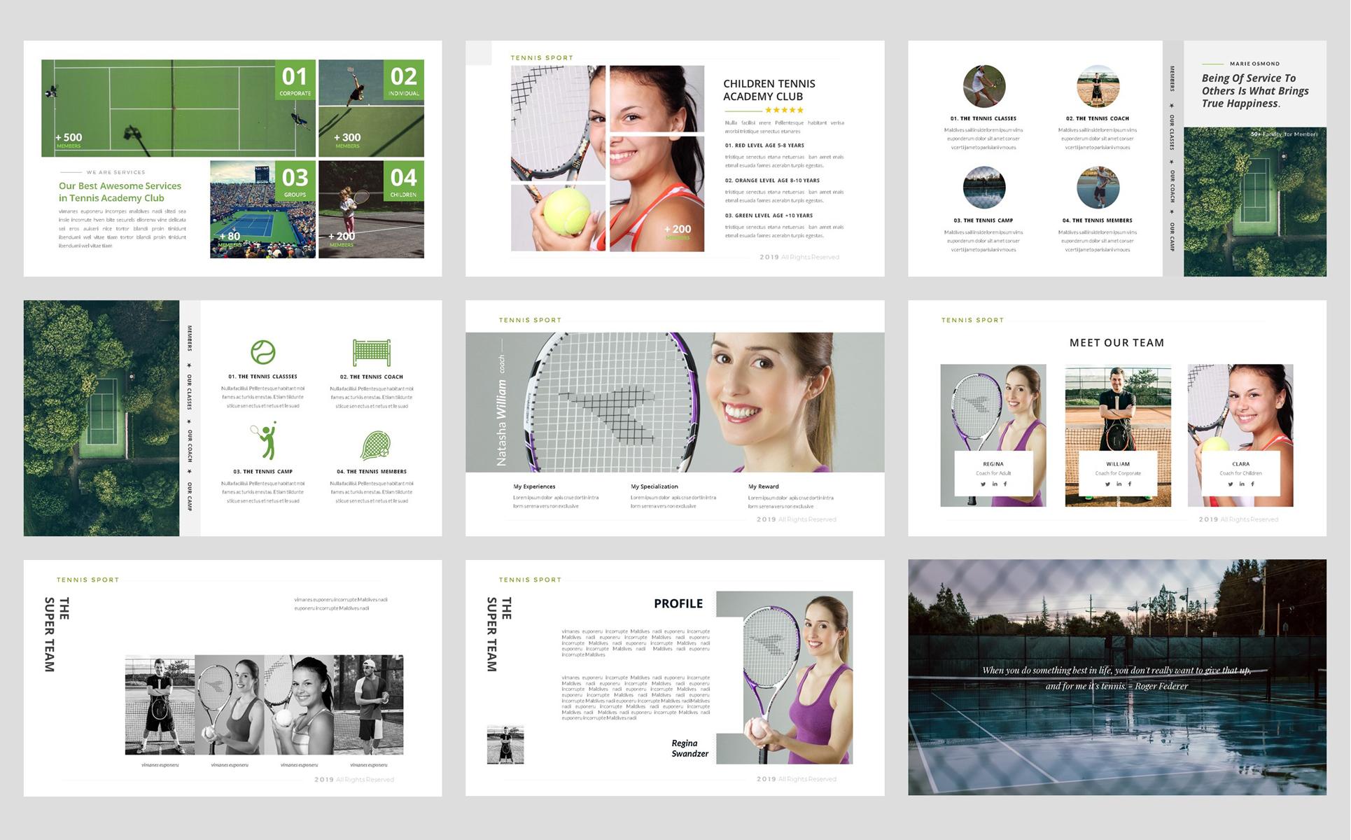 Tennis-Sport PowerPoint Template