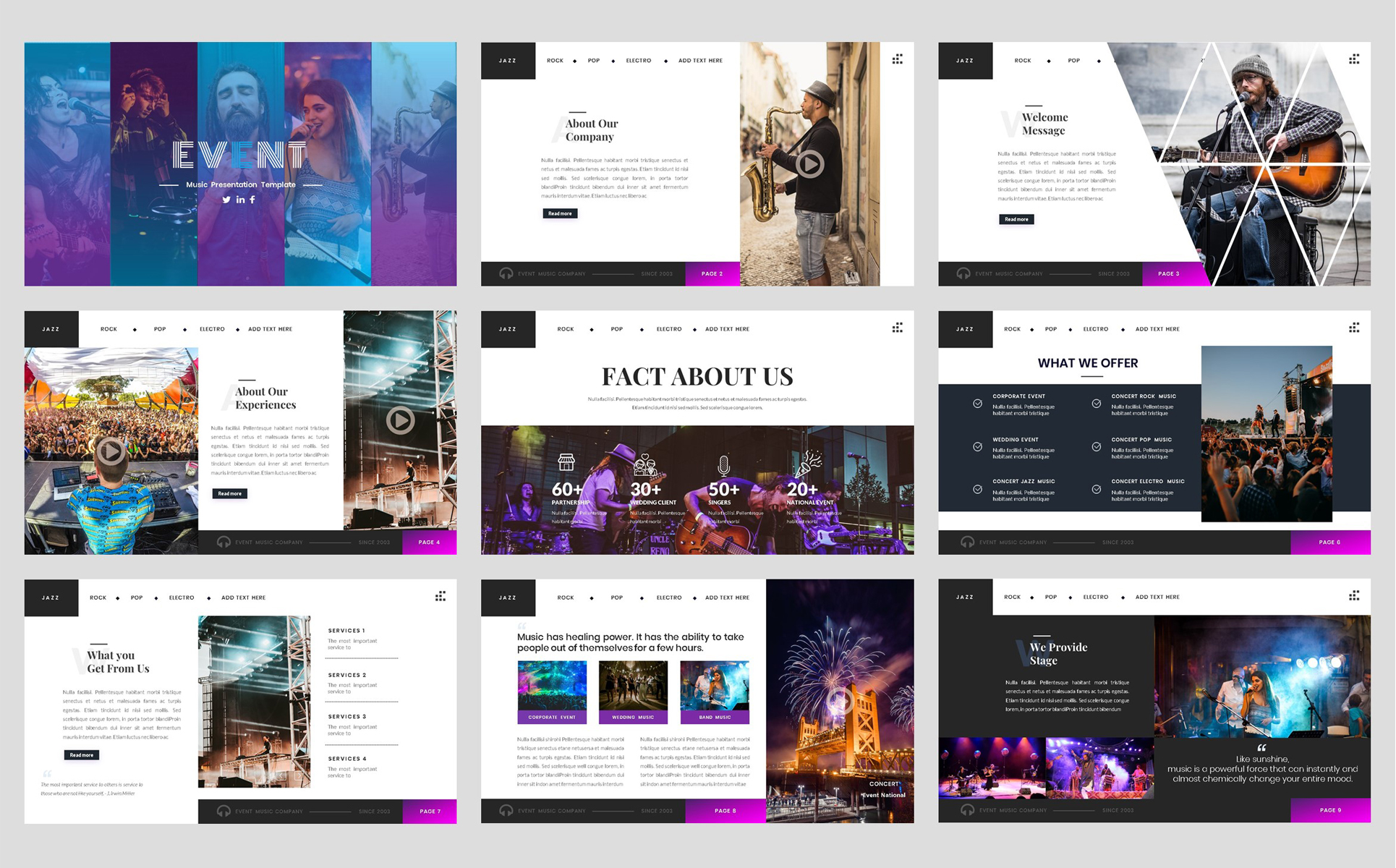 Event-Music PowerPoint Template