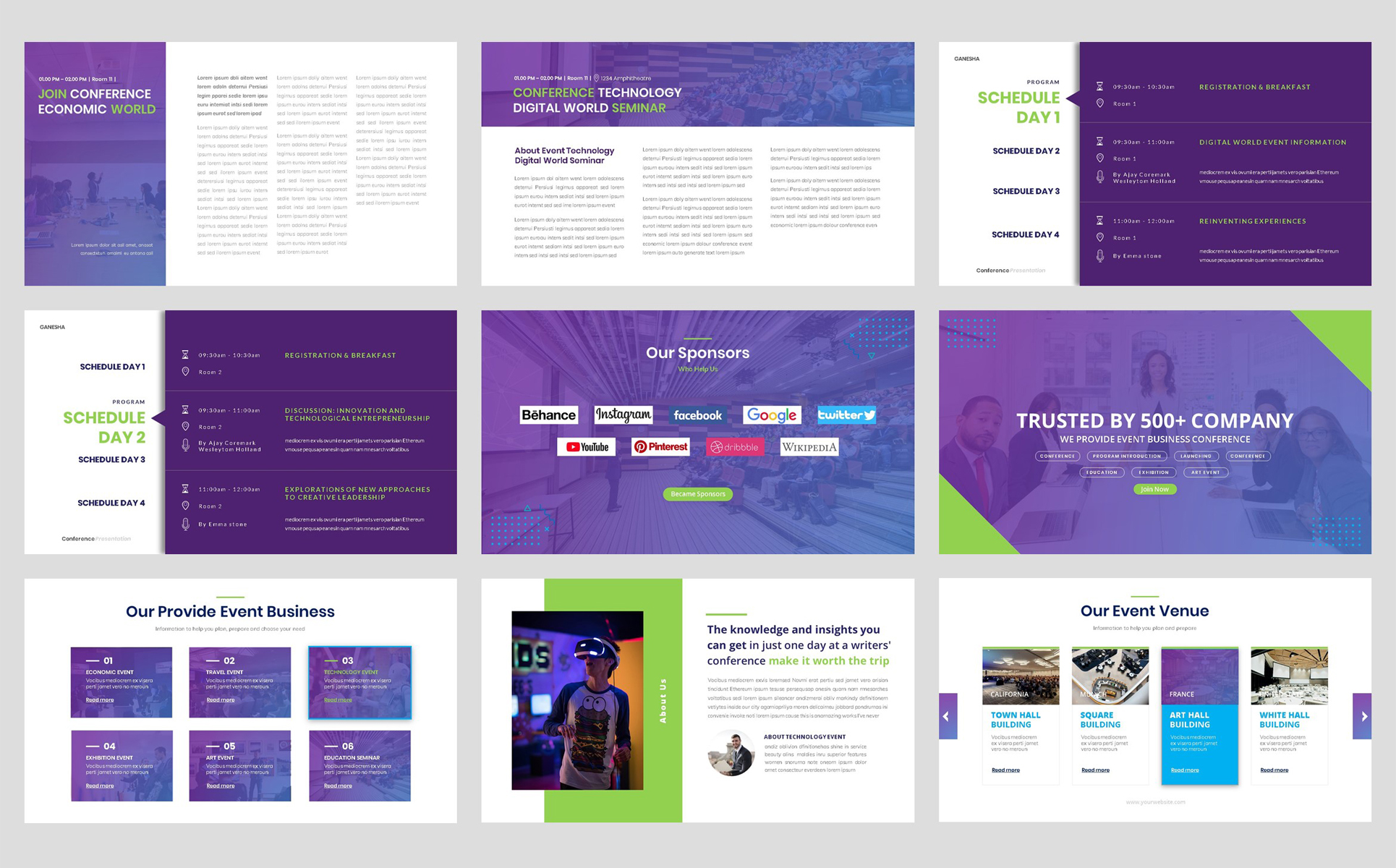 Conference - Event Seminar Business PowerPoint Template