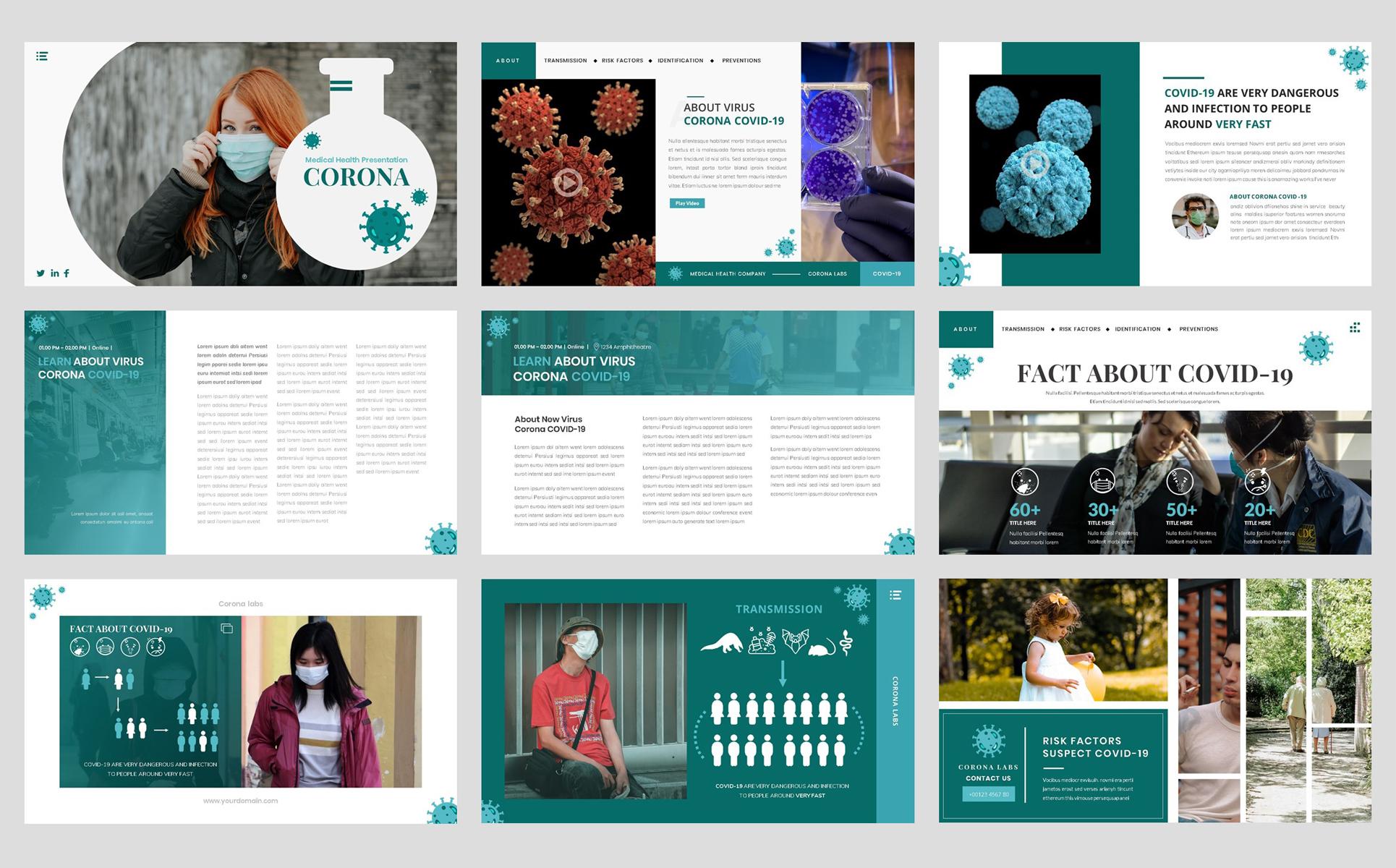 Virus Corona - Medical Health PowerPoint Template