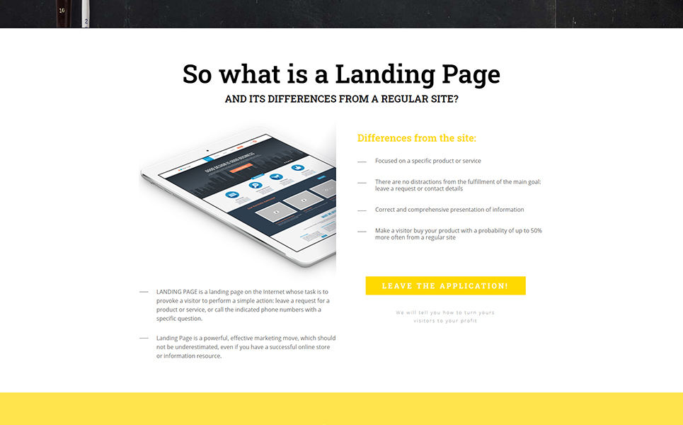 ADS Landing Page Template