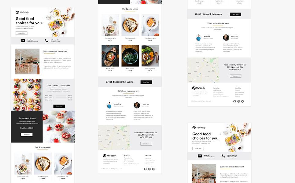 MyFoody - Responsive Restaurant Newsletter Template