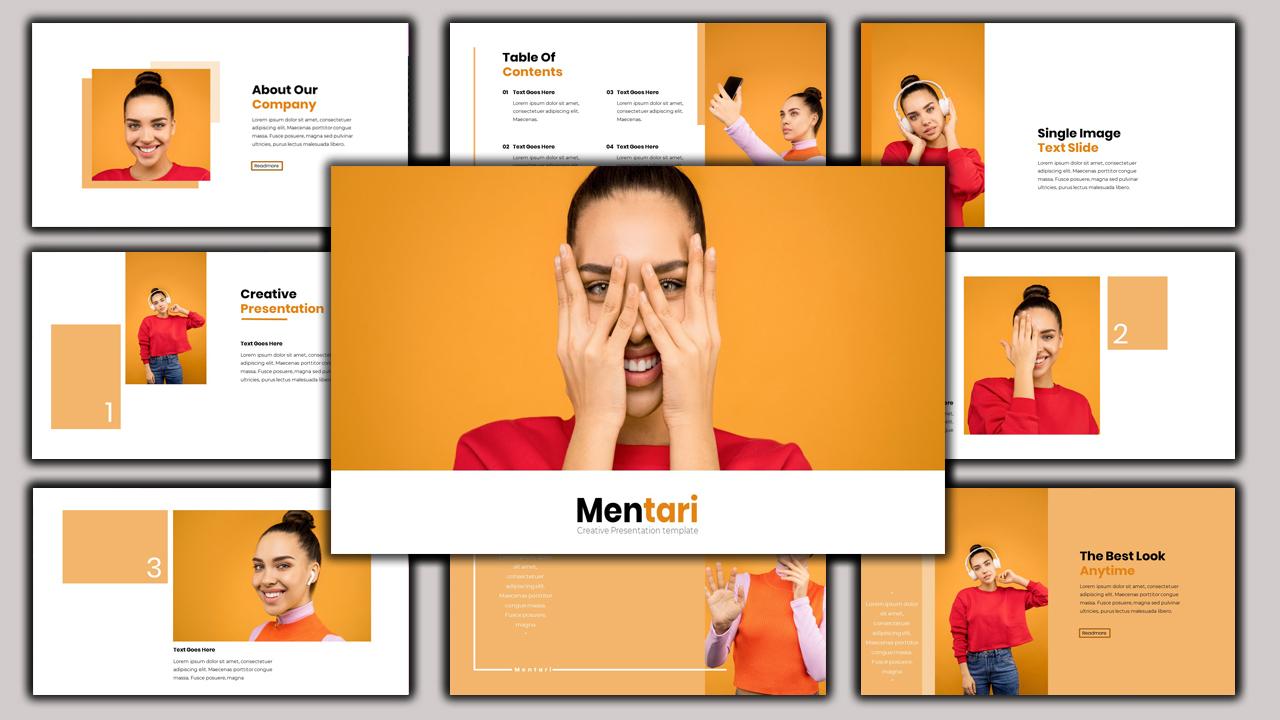 Mentari - Beauty Presentation PowerPoint Template