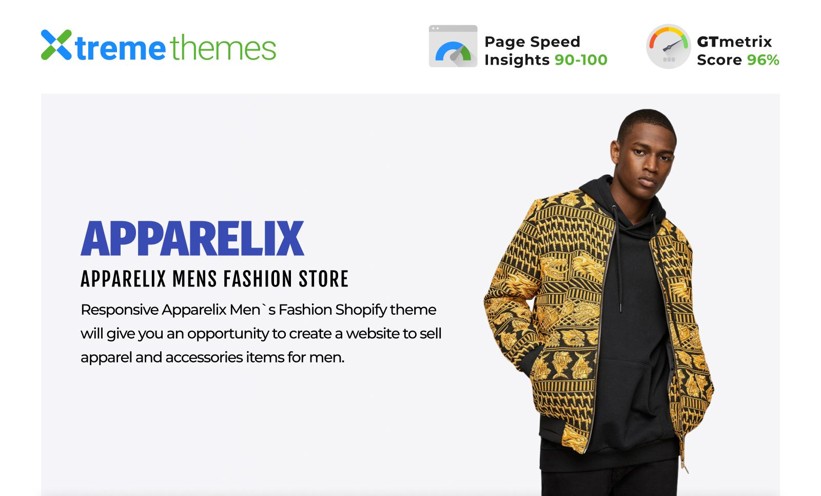 Apparelix Men`s Fashion Shopify Theme