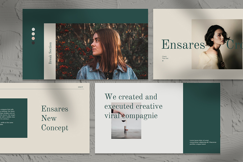 Ensares Brand Guidelines PowerPoint Template