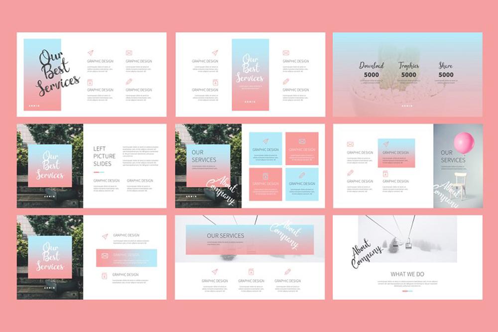 Armin Lookbook PowerPoint Template