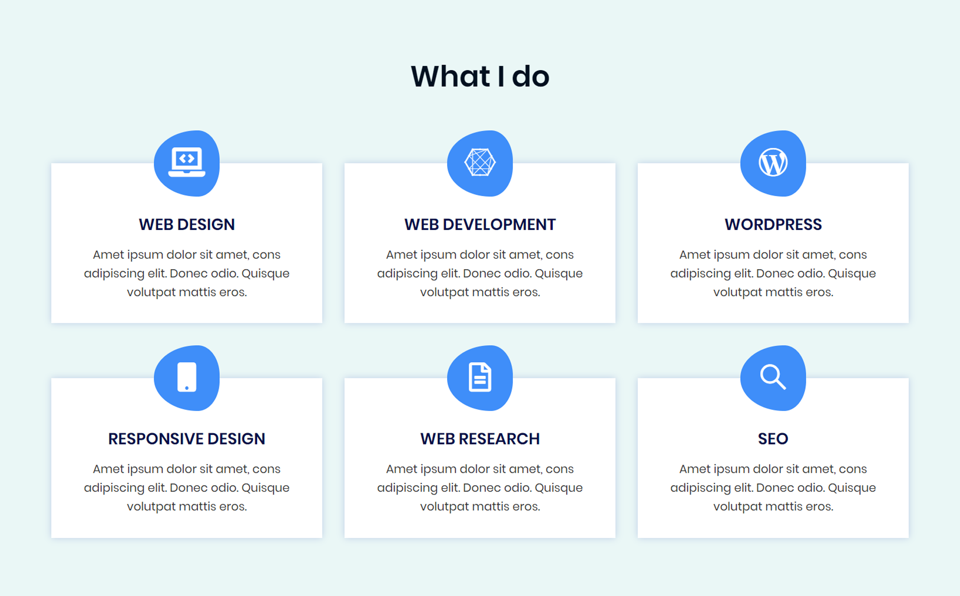 Jhon - personal portfolio Landing Page Template