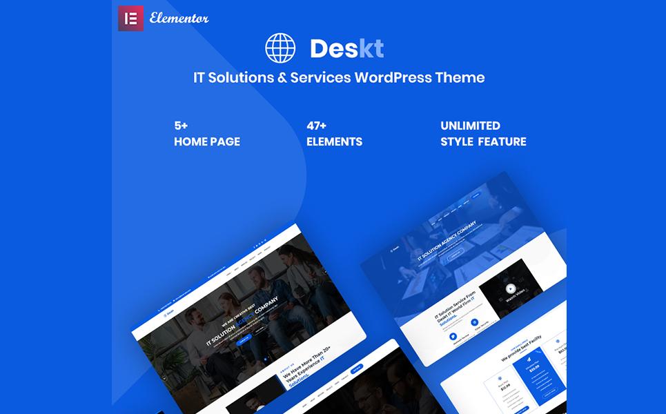 Deskt - IT Service & Solutions Responsive WordPress Theme