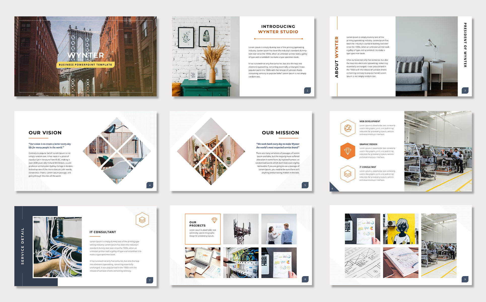 Wynter Bussines PowerPoint Template