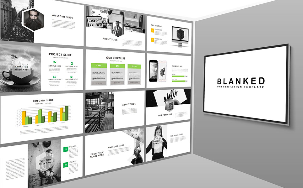 Blanked - Minimal PowerPoint Template