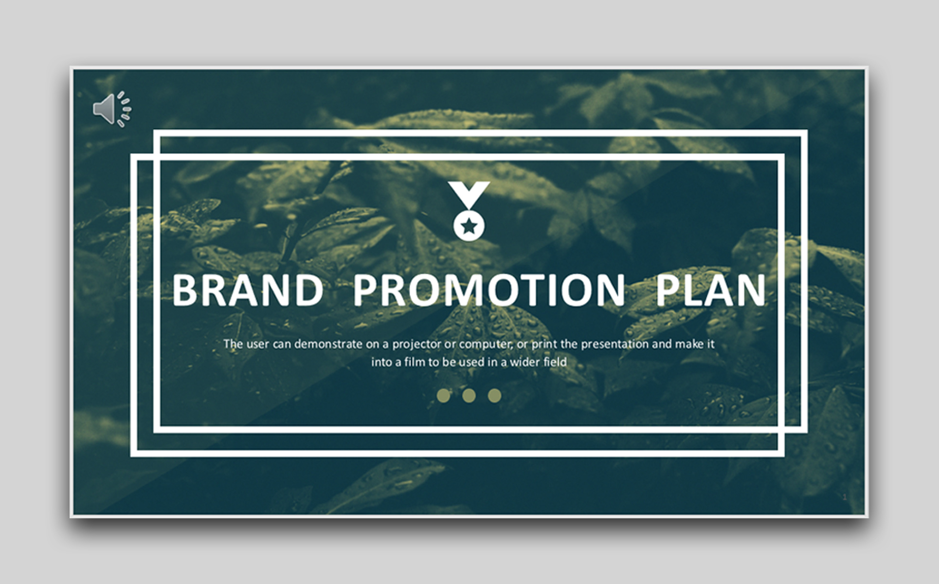 Business Brand Promotion Plan American & European Style PowerPoint Template
