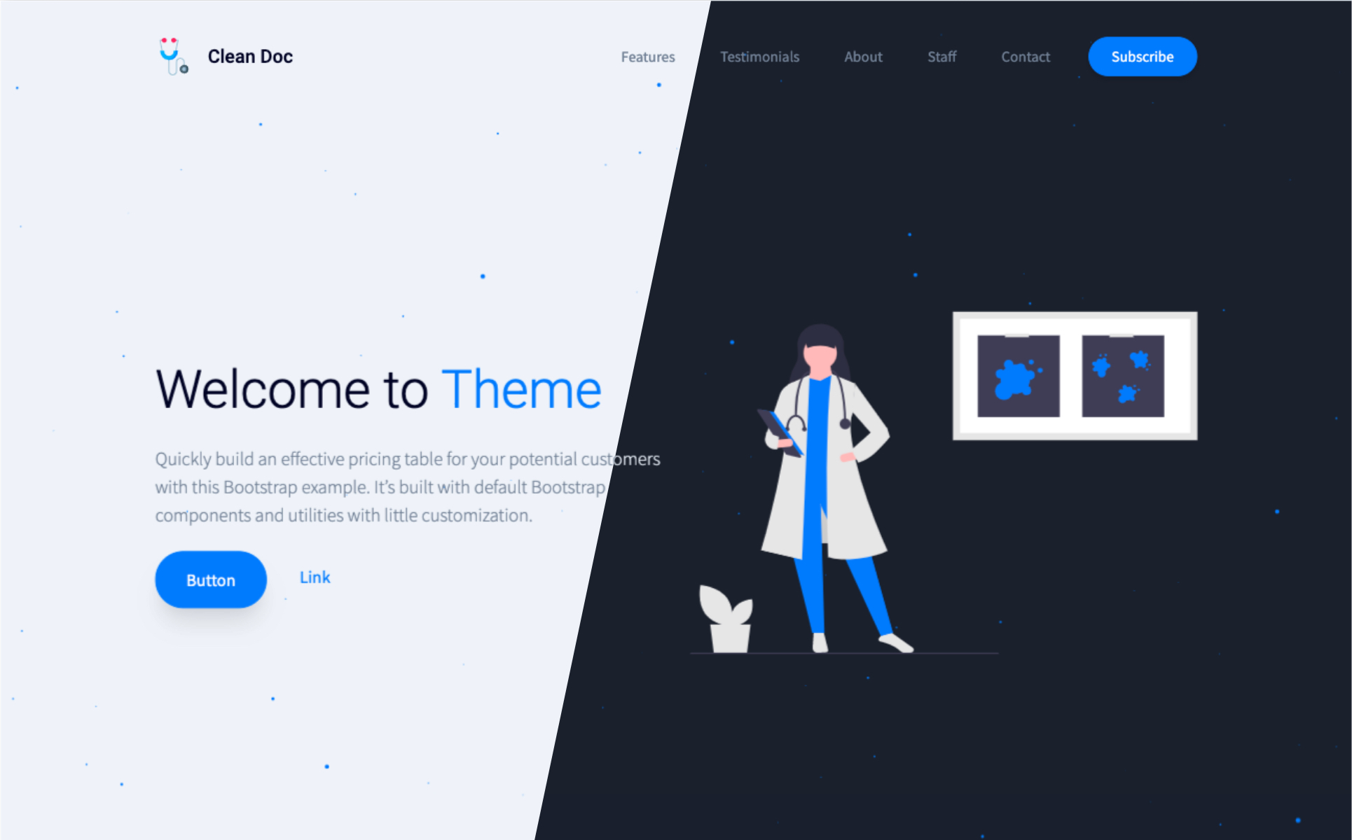 CleanDoc Landing Page Template