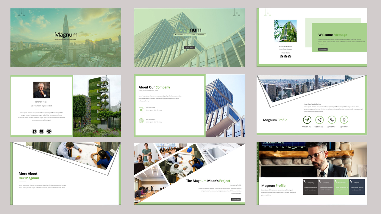 Magnum Creative Business PowerPoint Template