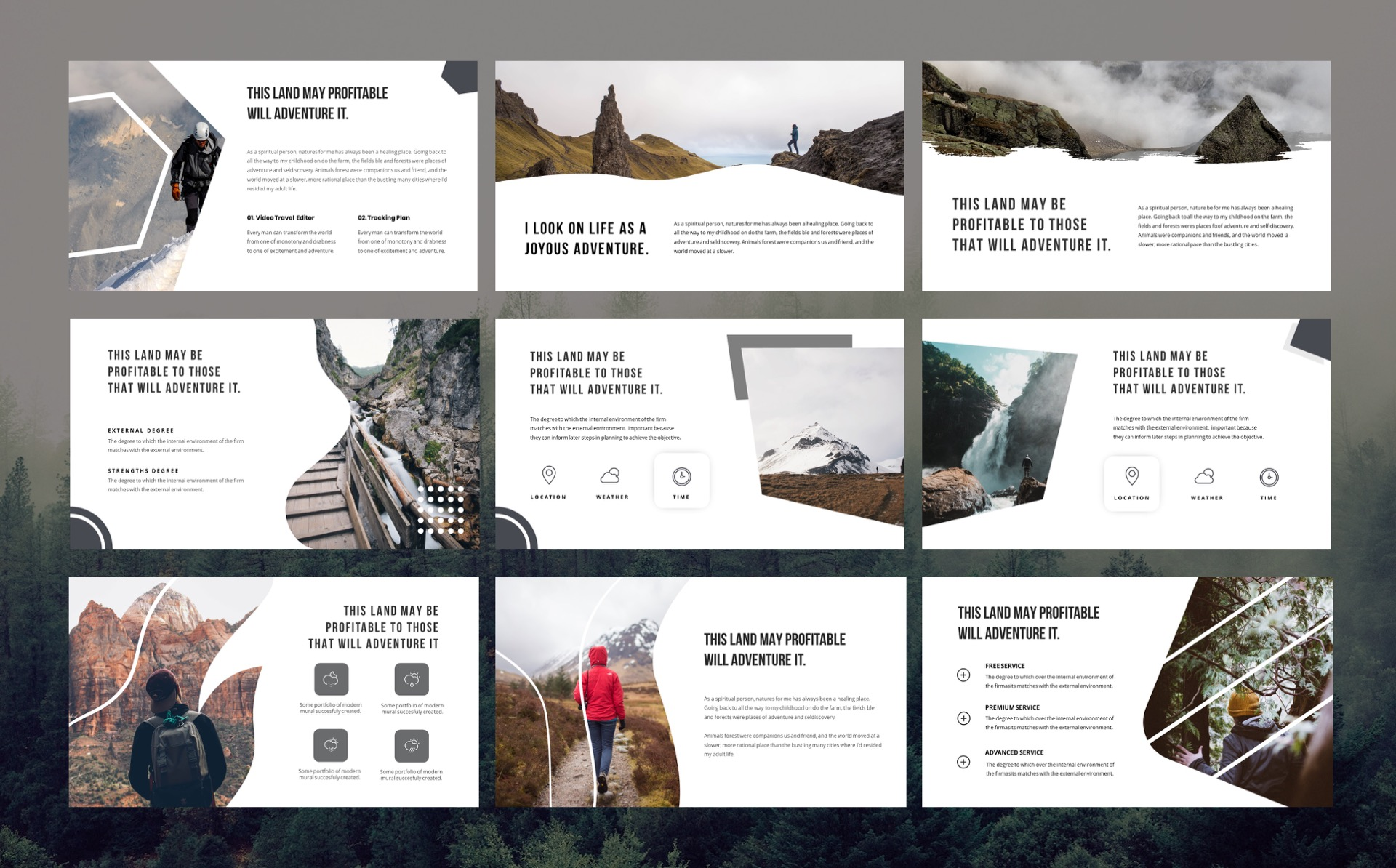 HIGHLAND - Outdoor Presentation PowerPoint Template