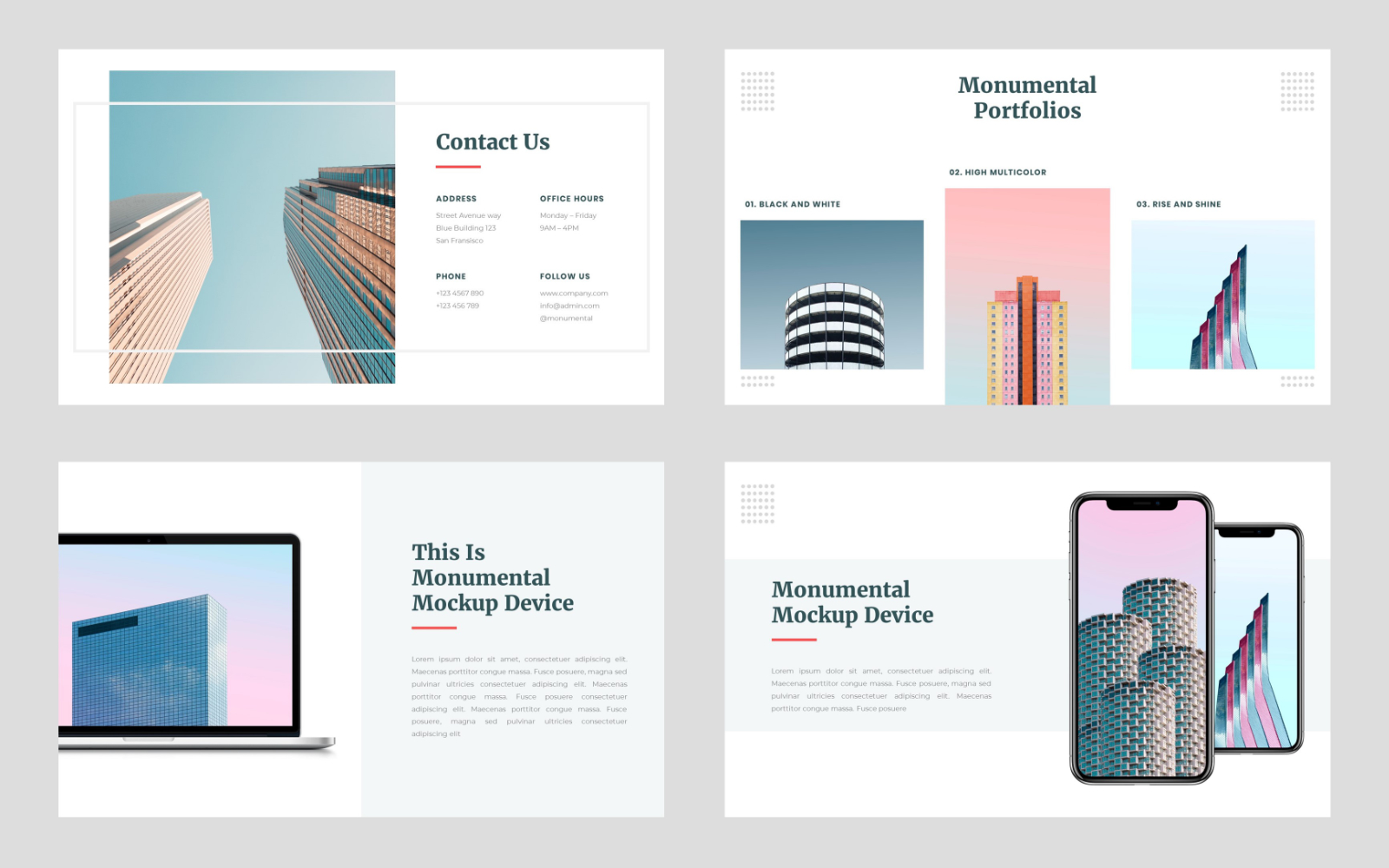 Monumental - Creative PowerPoint Template