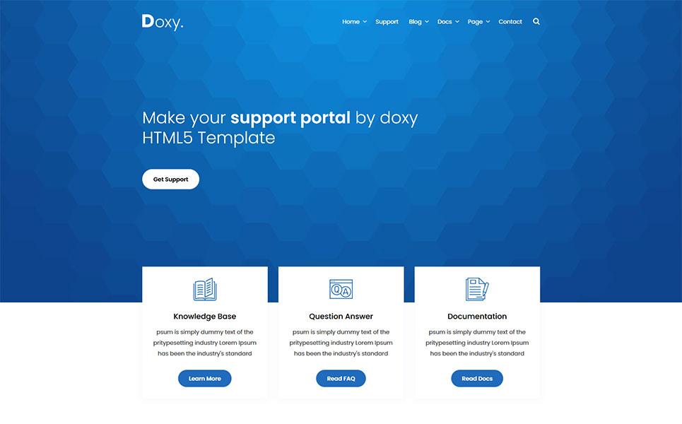 Doxy - Knowlegebase & Documentation Website Template