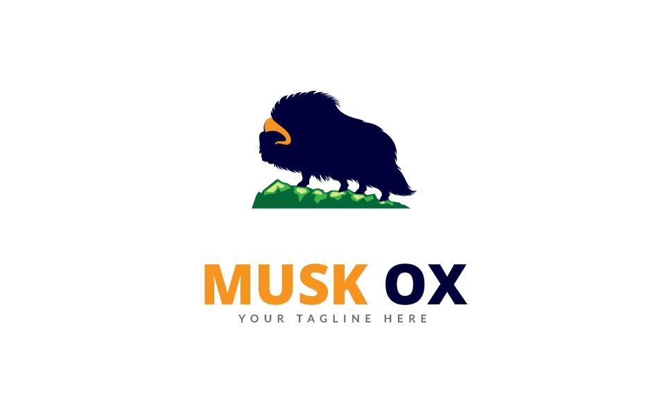 Musk Ox Logo Template